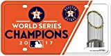 Houston Astros 2017 World Series Champions Metal License Plate Tag Sign MLB