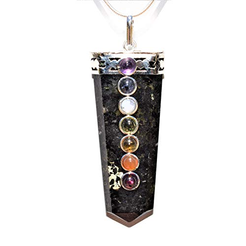 Charged 7 Chakra Starburst Flash Nuummite Crystal Perfect Pendant + 20