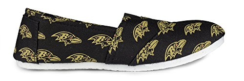 Football Womens 2015 Summer Collectibles Team Ravens Canvas Pick Forever NFL Ladies Slip Baltimore On Shoes 5wtIdqWz