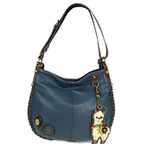 Key Bag Large with LLAMA Chala LLAMA Tote Handbag Crossbody Navy Fob Hobo Charming Hwq6xvSg1