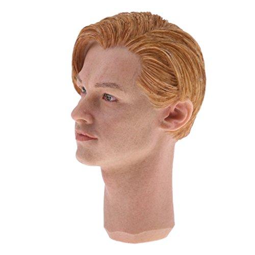 MonkeyJack 1/6 Scale Man Head Sculpt for 12'' DID TC Dragon Hot Toys Male Action Figure Body Parts L# - 12' Figure Dragon
