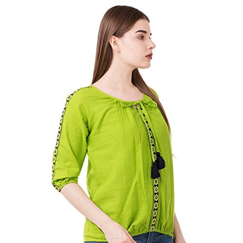 41vrDfNPnKL. SS500  - AANIA Beautiful Embroidered Exclusive Casual Cotton Women's Top