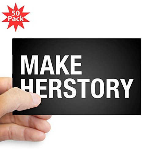 CafePress - Make Herstory - Sticker (Rectangle 50 pk) by CafePress