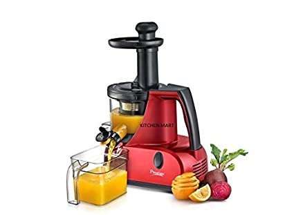 Prestige Squeezo Slow And Silent Juicer PSJ 3.0, 200 watts (Red) Cold Press Juicers at amazon