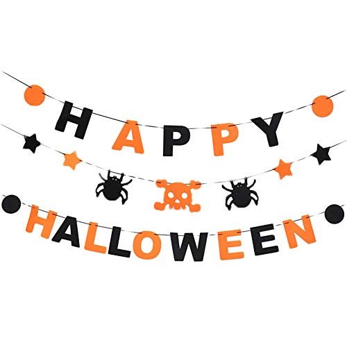 Unigds Halloween Decoration Costume Letters Flags Party Home Club ()