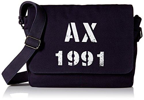 Armani Exchange Men's Printed Ax Logo Canvas Messenger Bag, - Exchange Mens Bags For Armani