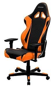 DXRacer R-Series - Silla, color negro y naranja