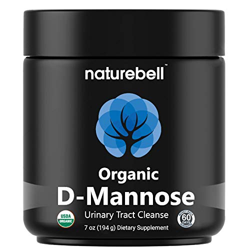 Certified ORGANIC D-Mannose Powder, Urinary Tract Cleanse & Bladder Support, Fast-Acting & Long-Lasting Cleanse, All Natural. No GMOs or Additives. Vegan Friendly.]()