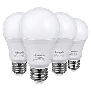 DEWENWILS 4-Pack A19 Dimmable LED Light Bulbs,10-Watt(60W Equivalent), 5000K Daylight, 800-Lumen, E26 Dim Light Bulb, UL Listed