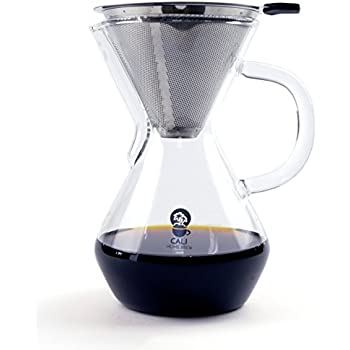 Amazon Com Double Wall Pour Over Coffee Maker Insulated