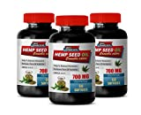 Pain Relief Pills 700mg - Hemp Seed Oil Cold Pressed 700 MG - Hemp Seed Capsules Organic - 3 Bottles 180 Softgels