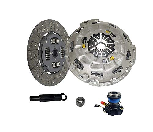 Clutch With Slave Kit Self-Adjust works with Ford F-150 F-250 F-150 Heritage Fx2 Stx Xlt Xtr Doble Cab Flotillera 1997-2008 4.2L V6 GAS OHV 4.6L V8 GAS SOHC Naturally Aspirated