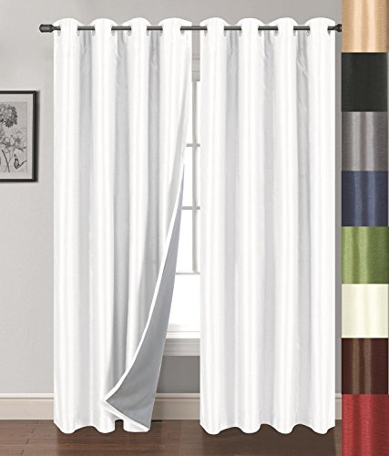 Siena Home Fashions Buona Notte Blackout Curtain (White) – 54″x84″