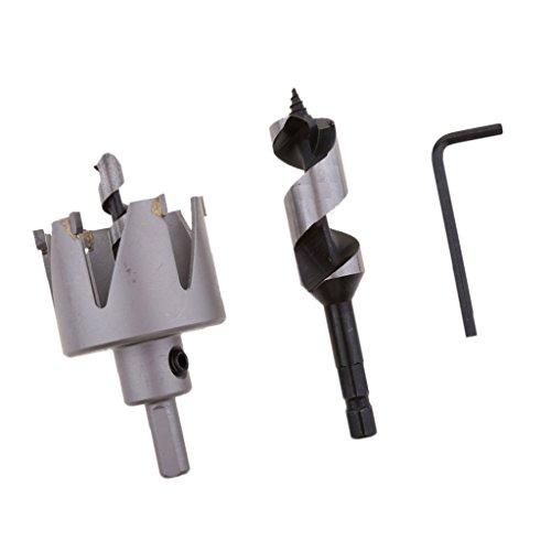 MonkeyJack 54mm Cutting Dia Hole Saw 22mm Auger Bit Door Lock Installation Kit - as shown, as described by MonkeyJack