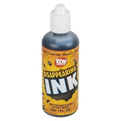 Roof's 1 Bottle of Magic Disappearing Ink 1oz Bottle - Novelty Party Gag Prank Joke Fun: Toys & Games