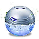 Gutwaren H2O Water SPA Water Based air Purifier ultrasonic Aroma Diffuser Home humidifier 1000ML Air Fresher Anion Plus Colorful Light Siliver