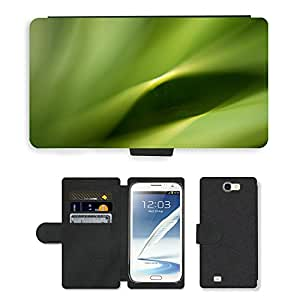 PU LEATHER case coque housse smartphone Flip bag Cover protection // M00151829 Verde Hoja Naturaleza Planta Natural // Samsung Galaxy Note 2 II N7100