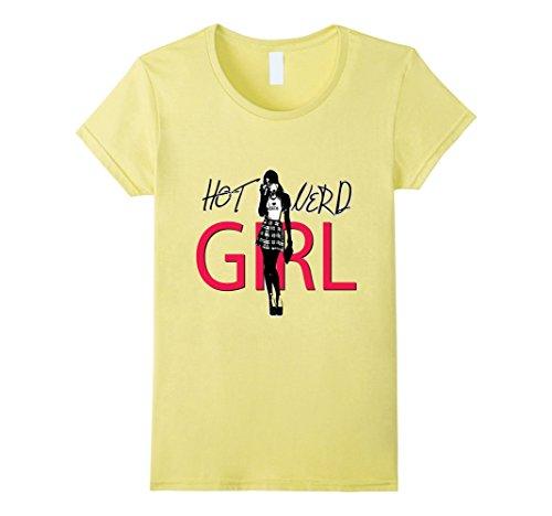 Women's Hot Nerd Girl Sexy Female Tshirt XL Lemon (Sexy Nerd Costume)