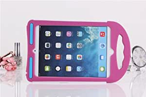 Portable Shock Proof Silicone Stand Handle case Protective Cover for Apple ipad Mini/Mini 2 (Rose)