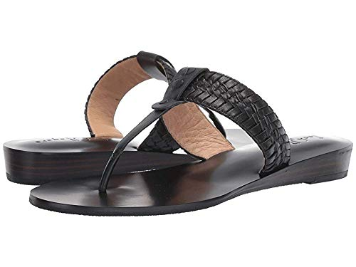 Jack Rogers Women's Tinsley Demi Wedge Black/Black 6 M US