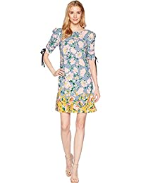 Women's Printed Shift with Gathered Sleeve