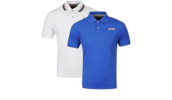 Slazenger - Polo - para hombre Blanco Blanco / Azul Real Small ...