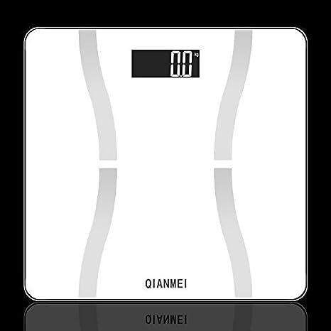 Bureze QIANMEI - Báscula Digital de Grasa Corporal con Pantalla LCD de 150 kg de Peso: Amazon.es: Hogar