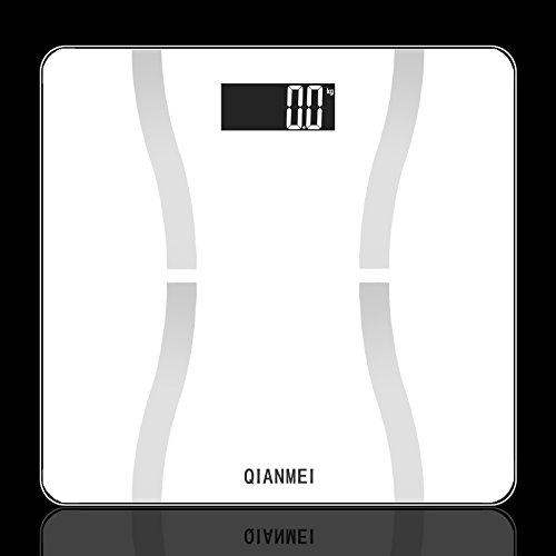 QIANMEI 150Kg Smart App Weight Large LCD Digital Electronic Body Fat Scale (white)
