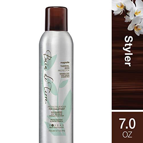 Bain de Terre Magnolia Thermal Iron Protector, with Argan & Monoi Oils, Paraben-Free, 7-Ounce