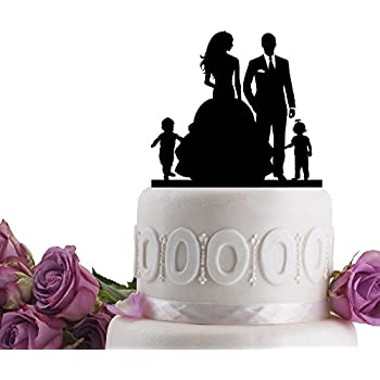 Amazon Wedding Cake Toppers Family Bride And Groom With 2