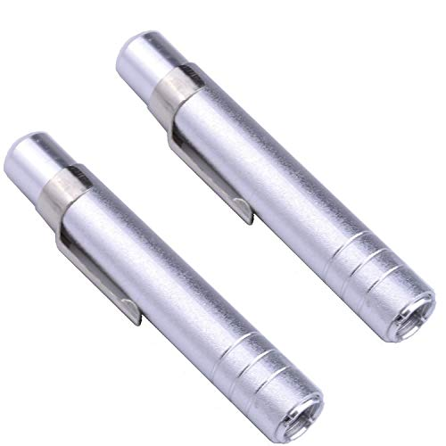 2 x Aluminum Alloy Chalk Holder Teacher's Chalk Clip Clutch (Silver) ()