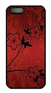 Abstract Painted Flowers Polycarbonate Hard Case Cover for iphone 4s Black