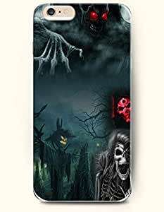 SevenArc Apple iPhone 6 Plus case 5.5 inches - All Hallows' Eve Scarry Halloween Jackstraw And Skeleton
