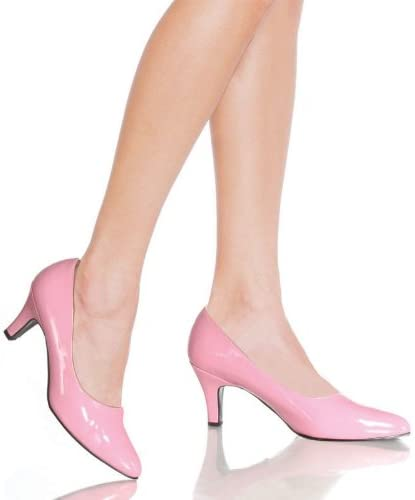 Baby Pink Patent 3 Inch Low Heels Court