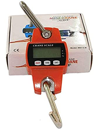 Digital Crane Scale Hanging 660lb with Accurate Reloading Spring Sensor