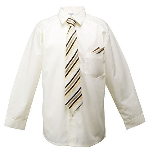 ivory dress shirt and tie - 9