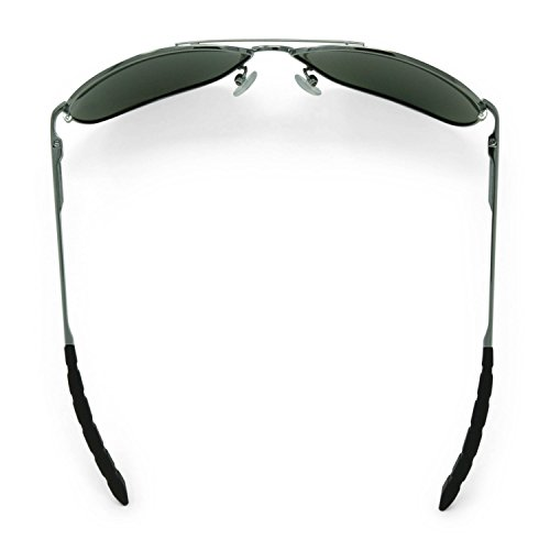 Voler pêcheur Highlander lunettes de soleil polarisées (Gunmetal Frame sombres, verres fumés)