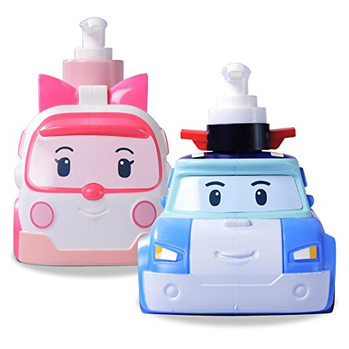 Robocar Poli and Amber Baby & Kids Traditional Herb Shampoo and Wash All in One Set 2 Bottles 24.34 oz by YONA