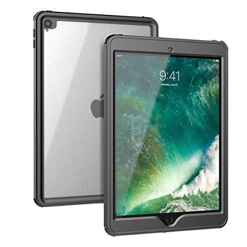 (AICEDA iPad Air (2019) 10.5 Inch Waterproof Case Protector Snowproof Dirtproof Protects Cover Shockproof Waterproof Case for iPad Air (2019) 10.5 Inch Black)