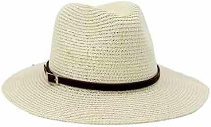 51ec6b60 KSDJSA Sun Hat for Men Women Straw Beach Cap Wide Brim Panama Male Visor Hat  Cas
