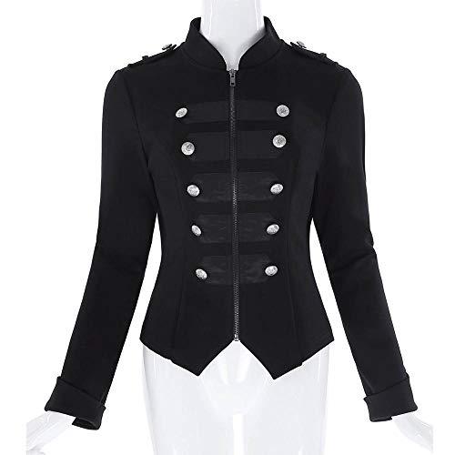 À Décoré Longues Dgfhr Zipper White Hauts Bouton Vêtements Manteaux Veste Manches D'extérieur Femmes Corset Noir Femme wnx8qXr8p0