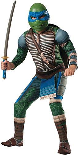 Kids Deluxe Teenage Mutant Ninja Turtles Leonardo Costume Bundle Small (Custom Tmnt Costumes)