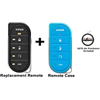 Viper 7856V 2 Way LED Remote Transmitter with a Blue Colored Cover 87856VB and a FREE SOTS Air Freshener