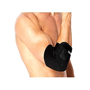 Luwint Adjustable Breathable Elbow Brace - Tendonitis Elbow Support Wraps for Tennis Basketball Volleyball Outdoor Sports Injury Recovery, 1 Piece (Black)