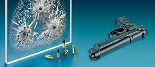 Federal Bullet Proof gun resistant Official Bank quality Bulletproof 1 glass Thick Sheet bullets shooting shot shoot guns Protection Safety Safe Home Business Protect No Shatter Glock Shatterproof