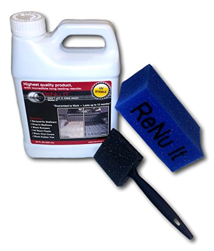 Renu it Plastic and Truck Bed Liner Restorer Kit Restoration 32oz (Plastic Truck Liners Bed)