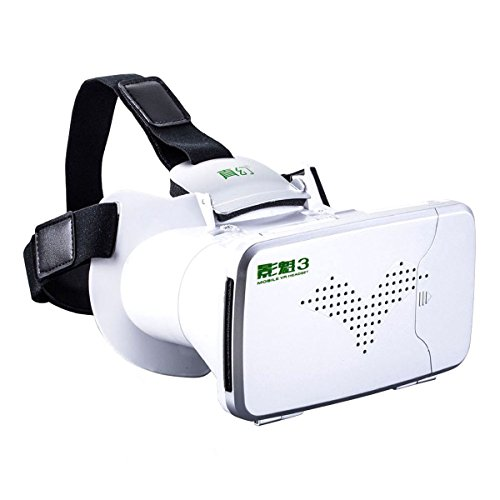 3D VR Glasses, Joso RIEM III VR BOX Video Movies Games Glasses Headset Adjustable Cardboard with 360 Degree Virtual Reality Scene for All Android and iOS iPhone between 4.0 to 6.0 inchs Phones