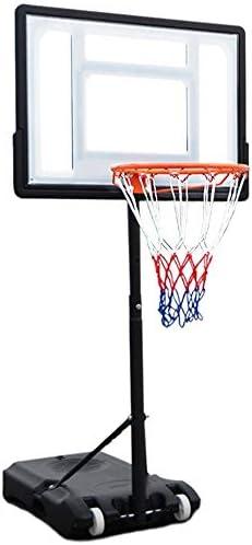 屋内バスケットボールラック モバイル屋内ホーム屋外トレーニングフロアシューティング玩具標準バスケット子供バスケットボールスタンドリフティング スタンディングバスケットボールセット (Color : White, Size : 1.20-2.10m)