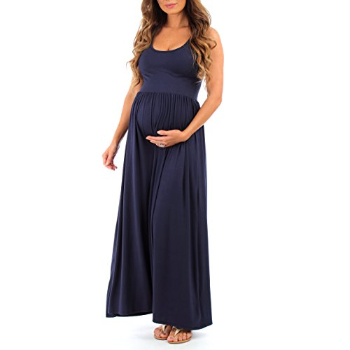 Women's Ruched Sleeveless Maternity Dress by Mother Bee in Regular and Plus Sizes – Made in USA