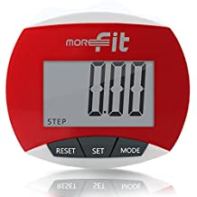 MoreFit Multi-function Walking Pedometer for Step & Distance Counter, Calories Burned, Non-bluetooth Outdoor Portable Sport Pedometer